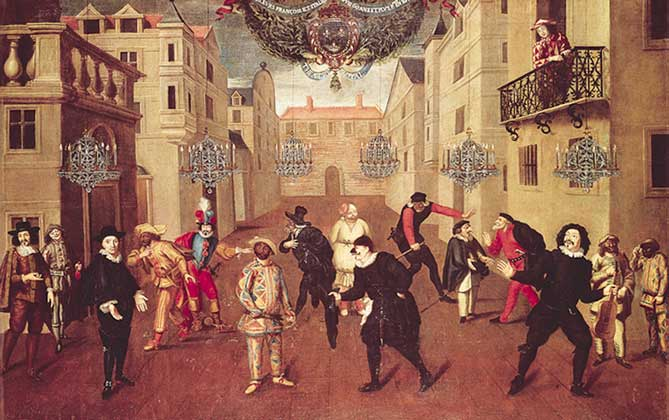 an analysis of commedia dell arte a type of play